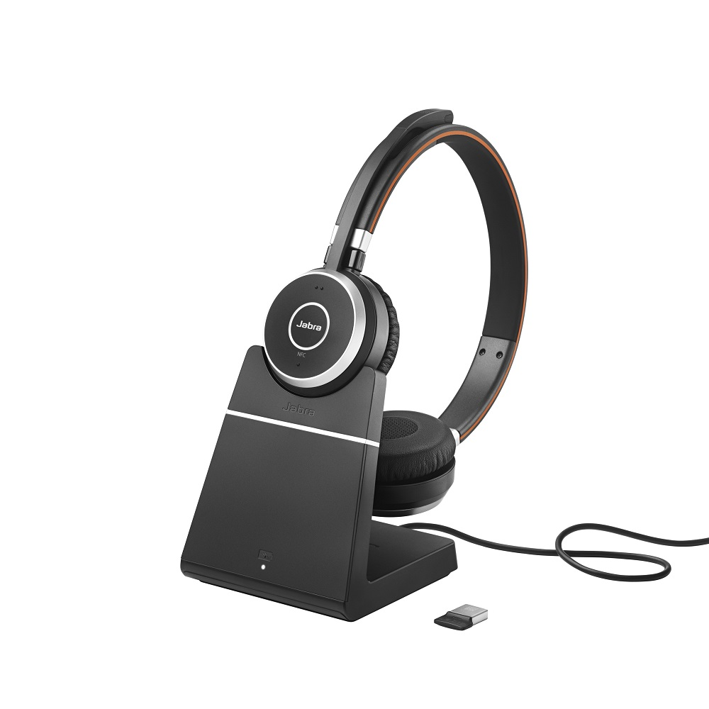Jabra Evolve 65 Duo Ms Headset With Charging Stand Avcomm Solutions Inc